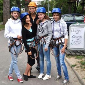 Półkolonia – wizyta w parku linowym (16-17.07.2012)