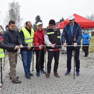 Otwarcie tras Nordic Walking w gminie Krasne (15.11.2019)