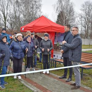 Otwarcie tras Nordic Walking w gminie Sokołów Młp. (21.11.2019)